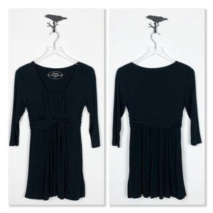 Soma Lounge Black Cross Front Tunic With Pockets